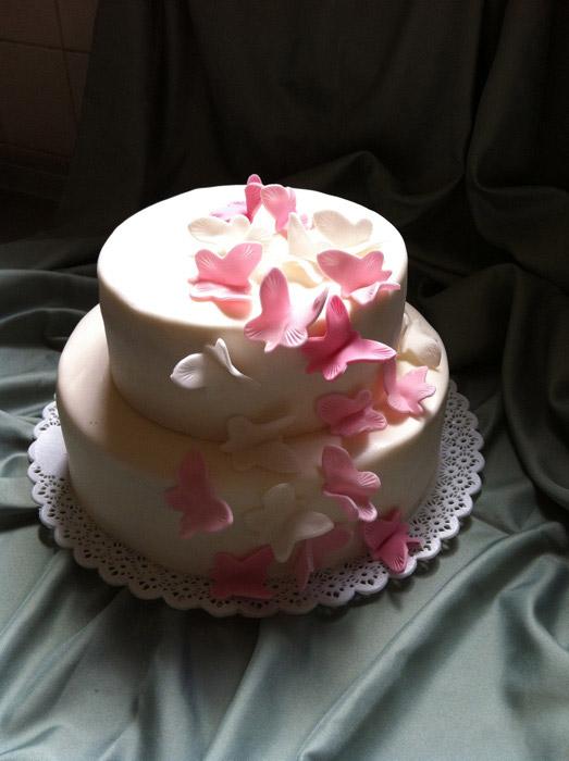 Hochzeitstorte-Schmetterling-rosa